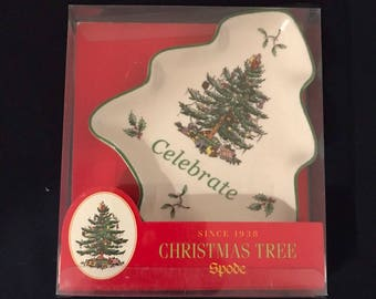 Vintage Spode Christmas Tree Dish / Small Christmas Tree Dish / Spode Christmas Tree Dish / Christmas Decor / 1990's Spode Dish