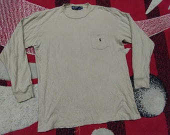 vintage polo ralph lauren small pony long sleeve size m