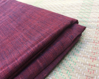 1 yard of Handspun Khadi madder and Indigo Fabric / khadi / madder and indigo / yardage / fabric / yardage / khadi yardage / handspun