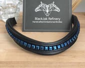 Royal Blue Padded Bling Browband -- the 'True Blue'-- Style #025--- Horse Browband, Dressage, Equestrian, Horse Tack, Equine