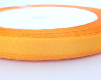 1 m orange satin ribbon
