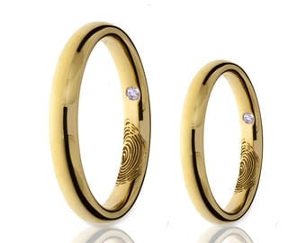 simple flat wedding bands in 14k yellow gold white gold or
