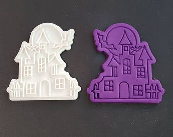 Haunted House Cookie Cutter and Stamp