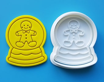 Snow Globe - Gingerbread Man Cookie Cutter and Stamp