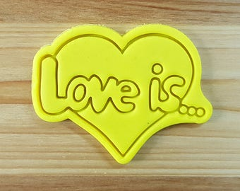 LOVE Is Cookie Cutter and Stamp