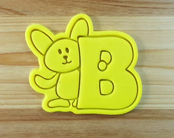 Bunny B Cookie Cutter and Stamp