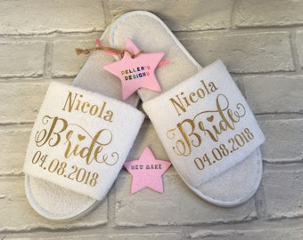 Personalised Bride / Wedding slippers Adults & Children!!