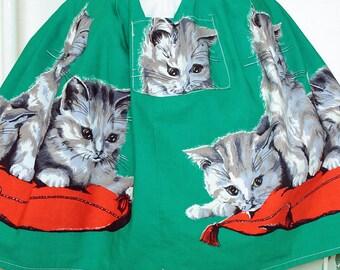 Adorable 1950s Child's Kitten Apron