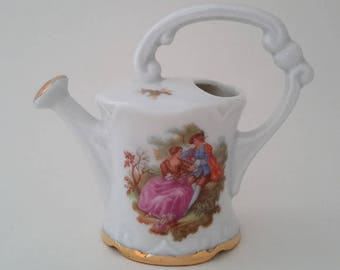 Limoges Fragonard Miniature Watering Can, France.
