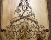 Surya Deva Woodburning with Jewelry Pegs