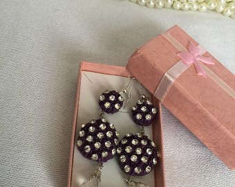 Handcrafted air dry clay earrings for women, gift for her, hen party, rustic wedding, romantic bride, cold porcelain