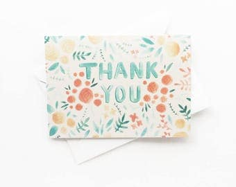 Greeting Card - Cute Floral Stationery - Thank You Card - A6 Greeting Card - Gift for Her
