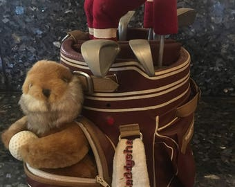 Vintage Caddy Shack Animated Gopher in Golf Bag