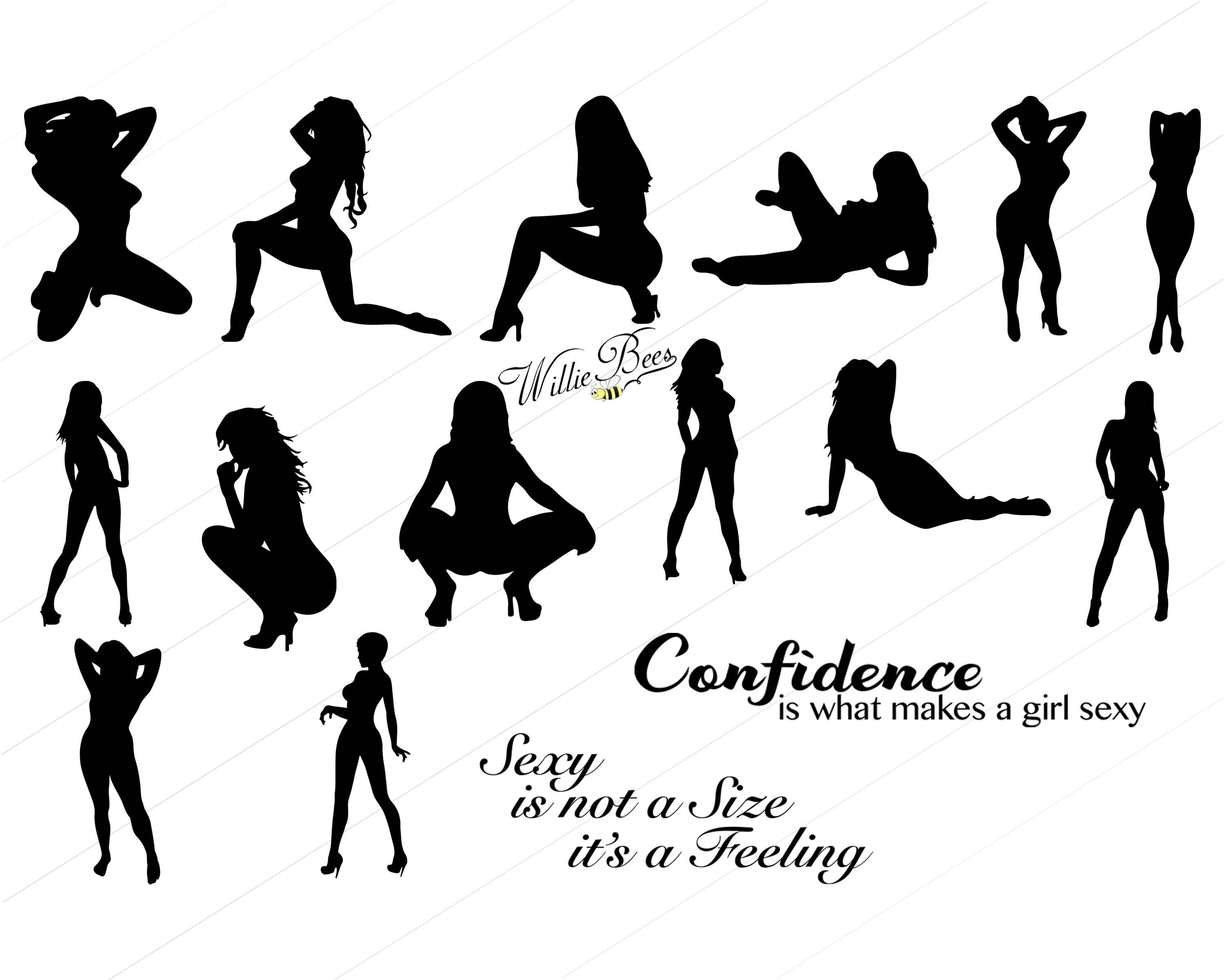 This is a digital file. Sexy Ladies And Pole Dancers Clip Art  Sexy Lady SVG  Lady Dancer