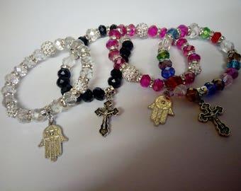 Crystal bracelets with charm
