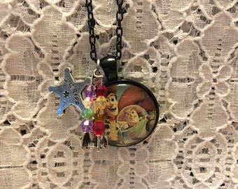 Toy Story Charm Necklace/Toy Story Necklace/Toy Story Pendant/Toy Story Jewelry
