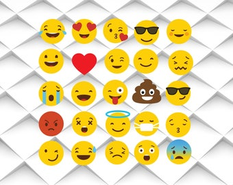 Emoji SVG,eps,png,jpg| Emoji Clipart  for Design/Print/ Silhouette Cameo/Cricut and Many More