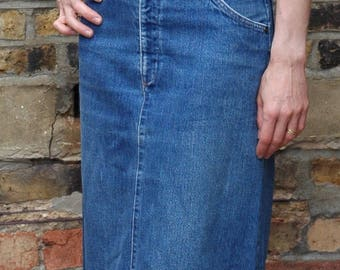 Vintage 70's style Levis Orange Tab 552 denim a-line skirt. 28/29 uk 10