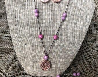 Rose gold jewelry set