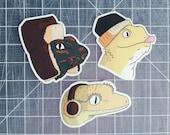 Bearded Dragon - Crested Gecko - Uromastyx - Lizard - Glossy 2x2 in Vinyl Sticker