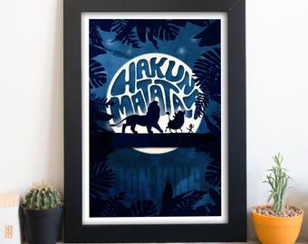 Hakuna Matata - Disney's The Lion King inspired art print