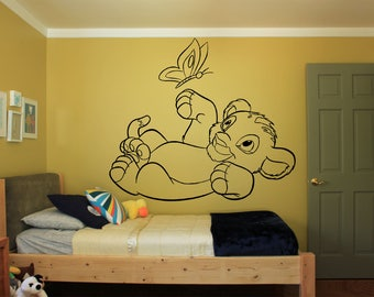 Simba Wall Decals Etsy - Lion king nursery wall decals