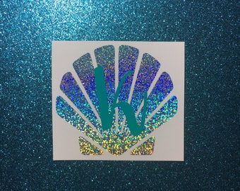 Holographic Seashell With or Without Initial Decal