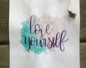 Love Yourself Cardstock Print