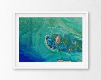Aerial Ocean Photography, Ocean Photography, Aerial Photography, Coastal Print, Ocean Print, Waves Poster, Beach Print, Aerial Beach Print