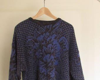 retro sparkly woollen jumper |VINTAGE|
