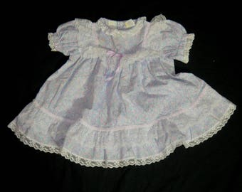 Vintage Girls Floral and Lace Dress - Size 2