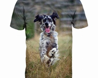 New ultramodern 3D  High Quality  Print Hunting Dog short Sleeve real NatureT-shirt