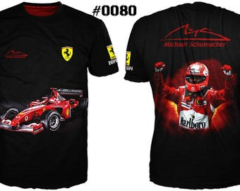 New Ultramodern 3D High Quality Formula 1 Ferrari Michael Schumacher Mens  T-shirt