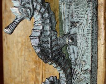 Antique door knocker etsy - Seahorse door knocker ...