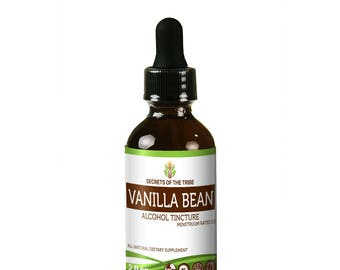 Vanilla Bean Alcohol Liquid Extract, Organic Vanilla Bean (Vanilla planifolia) Dried Bean