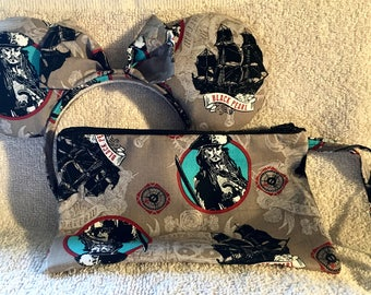 Pirates Mouse Ears and Wristlet Bundle!