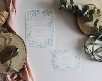 Olive You, rustic invites, wedding suite, bespoke invites, wedding stationary, customisable wedding invite, paper goods, wedding day invites