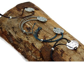 Leather 'Butterfly'  Friendship Bracelet : Choice of Four colours