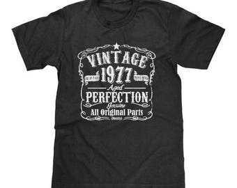 Vintage 1977 40th Birthday Shirt Men and Women Born in 1977 Funny T-Shirt Gag Gift Available In Mens, Womens, Adult And Youth Sizes