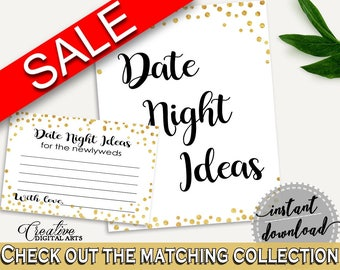 Date Night Ideas Bridal Shower Date Night Ideas Gold Confetti Bridal Shower Date Night Ideas Bridal Shower Gold Confetti Date Night CZXE5