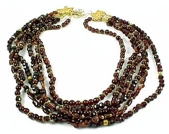 Vintage Garnet Multi-Strand Beads