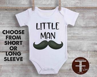 Little Man Onesie, Funny Baby Onesie, Funny Onesie For Boy, Daddy's Boy Onesie, Funny Baby Onesies, Mustache Onesie, Cute Baby Boy Clothes