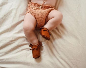 Baby bloomers baby pants, baby bloomers, diaper cover CARLOTTA nude knit Studio me color