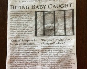 Baby Crinkle Newpaper Toy, Crinkle Toy, Baby Newspaper, Crinkle Paper, Baby Paper, Baby Toy