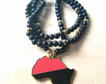 Black Onyx Multicolored Africa Necklace