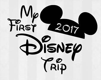 My First Disney Trip .svg file for Cricut and Silhouette