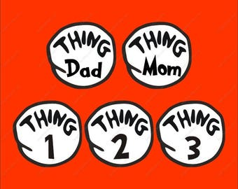 cat in the hat svg, dr seuss svg, thing 1, thing 2, thing 3, thing Dad, thing Mon dr seuss svg files drseuss svg dr.seuss