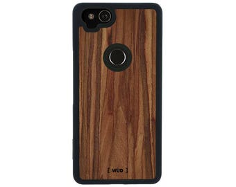 Phone Case for Google Pixel 2 - Real Wood (Rosewood)