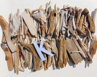 "Natural Freshwater Driftwood - 115 Small Medium pieces 4""-6"" long - Lot K"