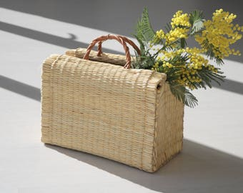 Reed Bag, portuguese basket, Rietmand, Korb, handbag, market bag, summer basket, cesta de paja, natural basket, panier, shopping bag.